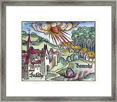 Ensisheim Meteor Fall, 1492 Framed Print