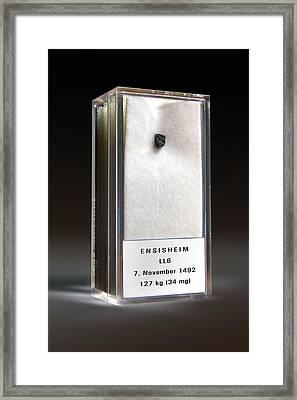Ensisheim Meteorite Fragment Framed Print