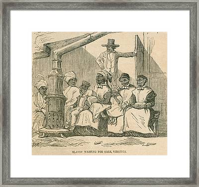 Enslaved African American Women Framed Print by Everett
