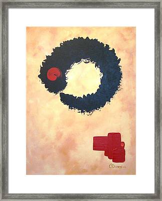 Enso Abstract Framed Print