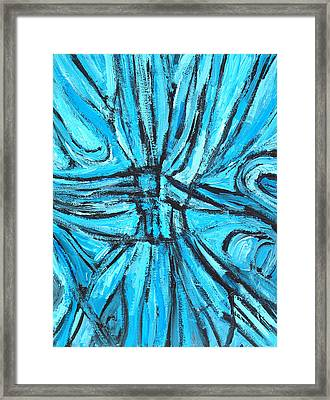 Entangled Cross Framed Print by Kazuya Akimoto