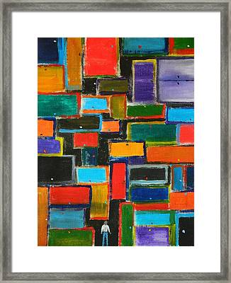 Framed Print featuring the painting Enter Here by Everette McMahan jr
