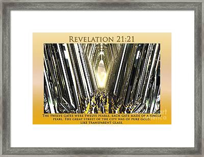 Enter Into Heaven's Gate Framed Print