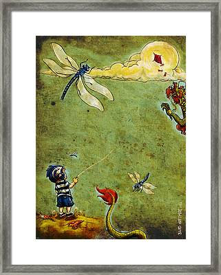 Enter The Dragon Framed Print by Baird Hoffmire