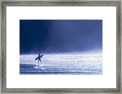 Entering The Blue Framed Print