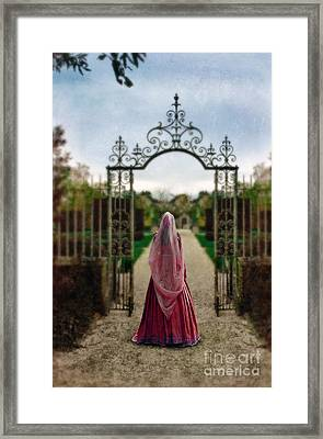Entering The Garden Framed Print by Jill Battaglia