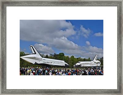 Enterprise And Discovery Framed Print by Lawrence Ott