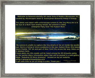 Enterprise Flyby Over The Hudson River  Framed Print by Phillip H George