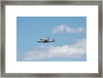 Enterprise Flyby Framed Print by Rita Tortorelli