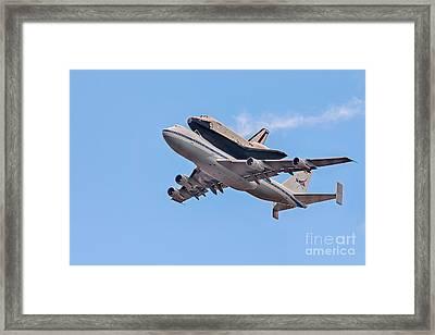 Enterprise Space Shuttle  Framed Print by Susan Candelario