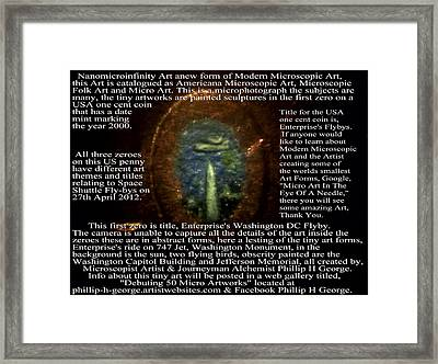 Enterprise's Washington Dc Flyby Framed Print