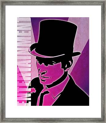 Entertainment Poster With Man In Top Hat Framed Print by Photos.com