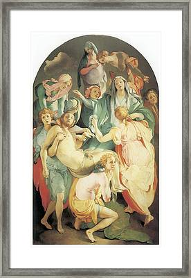 Entombment Framed Print by Jacopo Da Pontormo
