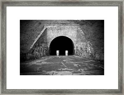 Entrance Of A Tunnel Framed Print by Fabrizio Troiani