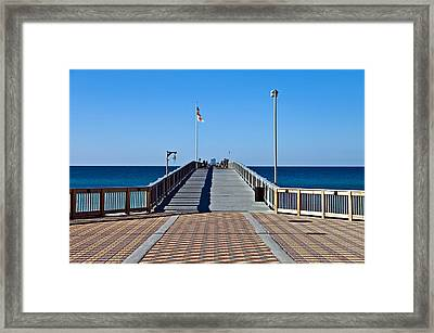 Framed Print featuring the photograph Entrance To A Fishing Pier by Susan Leggett