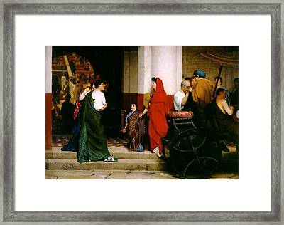 Entrance To A Roman Theatre Framed Print by Sir Lawrence Alma-Tadema