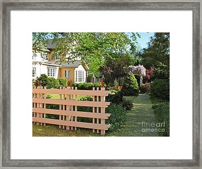 Entrance To A Victorian Garden Framed Print