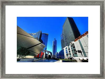 Entrance To City Center Framed Print