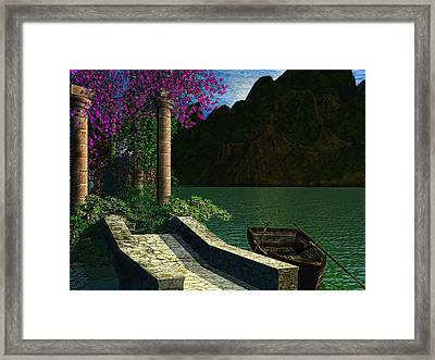 Entrance To Escape Framed Print by Lourry Legarde