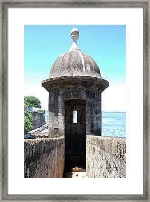 Entrance To Sentry Tower Castillo San Felipe Del Morro Fortress San Juan Puerto Rico Framed Print by Shawn O'Brien