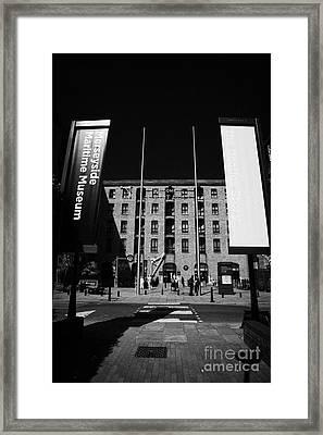 Entrance To The Albert Dock And Beatles Museum Liverpool Merseyside England Uk Framed Print by Joe Fox