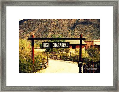 Entrance To The High Chaparral Ranch Framed Print by Susanne Van Hulst