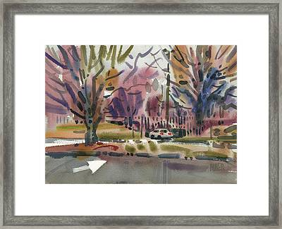 Entrance To The Mall Framed Print