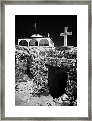 Entrance To The Underground Old Church At Ayia Thekla Republic Of Cyprus Europe Framed Print