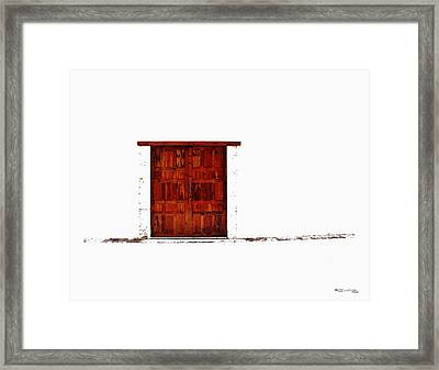 Entrance Framed Print by Xoanxo Cespon