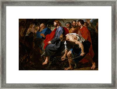 Entry Of Christ Into Jerusalem Framed Print by Sir Anthony Van Dyck