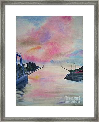 Entry To Lake Ontario Framed Print by Judy Via-Wolff