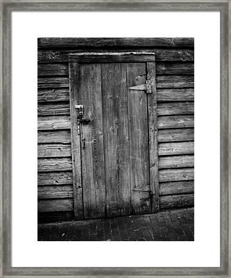 Portrait Of Old Door Framed Print