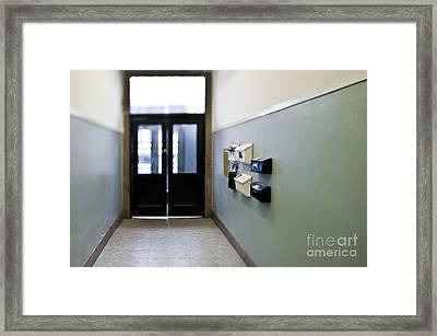 Entryway With Post Boxes Framed Print