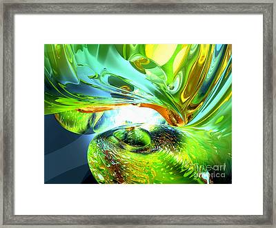Envious Thoughts Abstract Framed Print