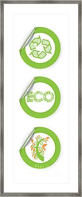 Environmental Sticker Design Framed Print