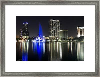 Eola Park Skyline Framed Print