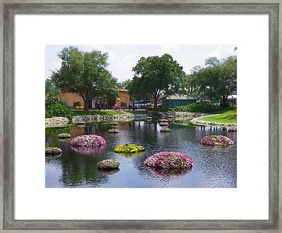 Epcot Center 2 Framed Print by Judy Wanamaker