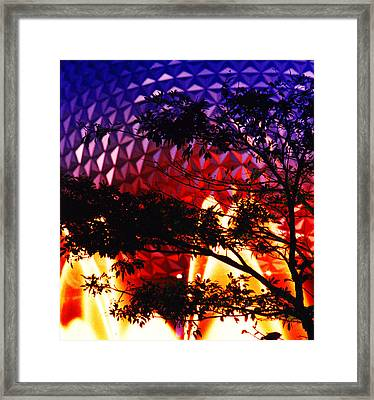 Framed Print featuring the photograph Epcot Dream by Mike Flynn