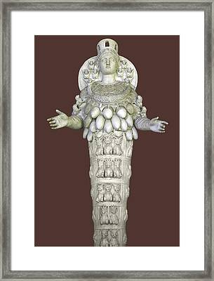 Ephesian Statue Of Artemis Framed Print by Sheila Terry