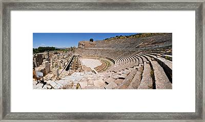 Ephesus Theatre Framed Print by Michael Oakes