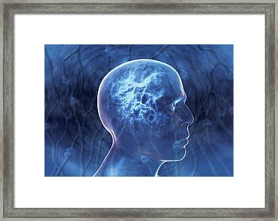 Epilepsy, Conceptual Artwork Framed Print by David Mack