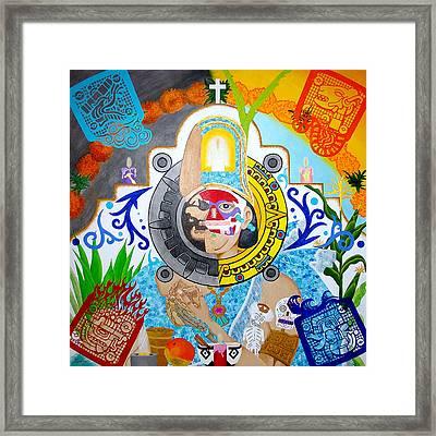 Epocalypto Framed Print by Guadalupe Herrera