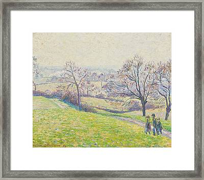 Epping Landscape Framed Print by Camille Pissarro