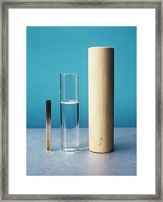 Equal Masses Of Different Materials Framed Print by Andrew Lambert Photography
