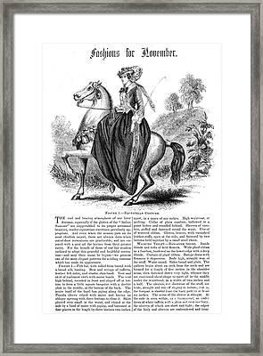 Equestrian Fashion, 1852 Framed Print by Granger