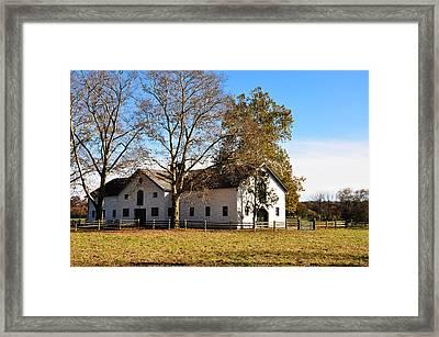 Equestrian Stable Erdenheim Farm Framed Print by Bill Cannon