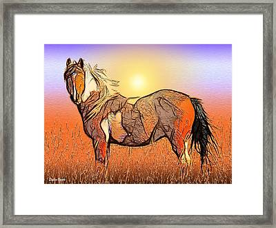Equestrian Sunset Framed Print by Stephen Younts