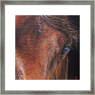 Equine 2 Framed Print by Elena Kolotusha