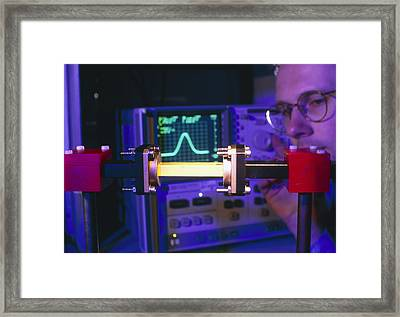 Equipment For Superluminal Microwaves Framed Print by Volker Steger