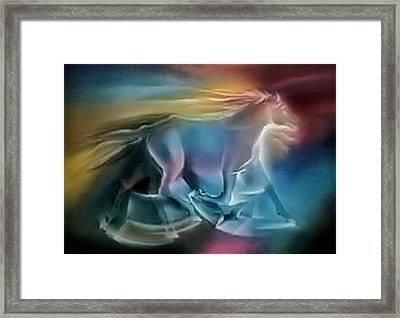 Equus Caballuscomp 1984 Framed Print by Glenn Bautista